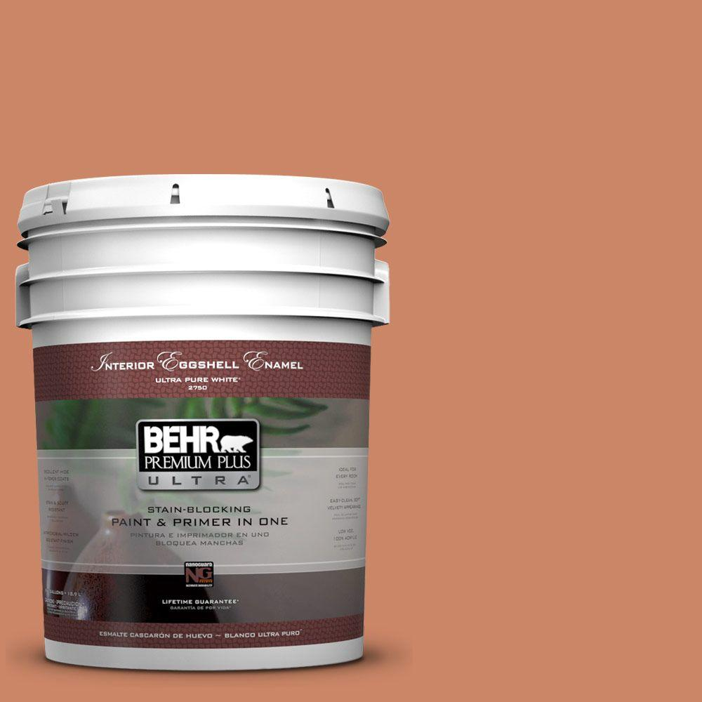 5 gal. #230D-5 Aztec Brick Eggshell Enamel Interior Paint and Primer