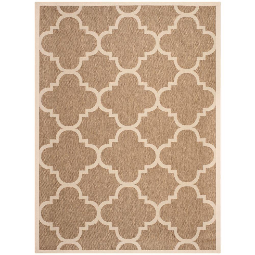 Courtyard Brown 9 ft. x 12 ft. Indoor/Outdoor Area Rug