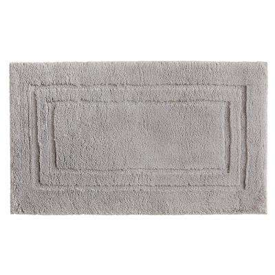 Imperial 20 in. x 34 in. Cotton Bath Mat in Gray