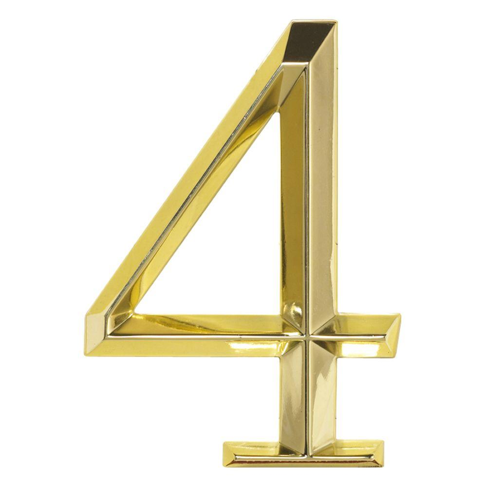 Whitehall Products Classic 6 in. Polished Brass Number 4
