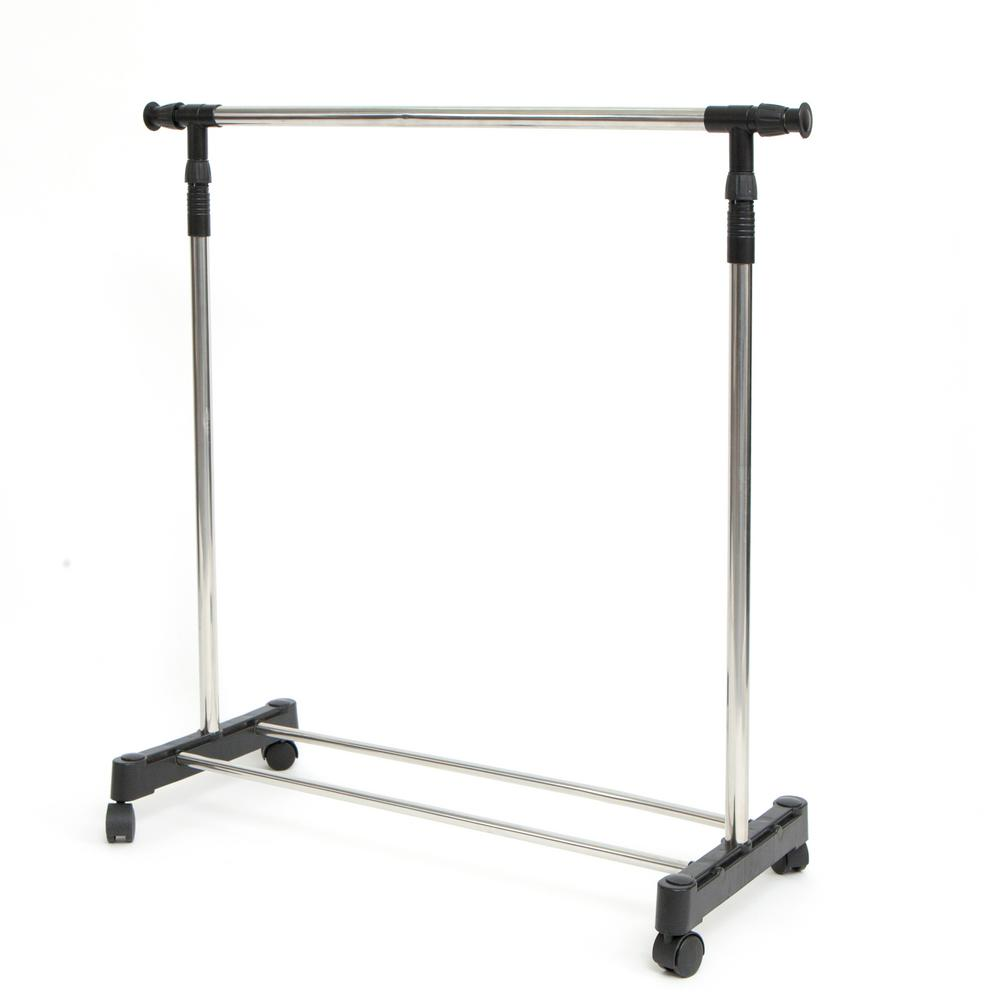Extend Stainless Steel Adjustable Garment Rack In Chrome