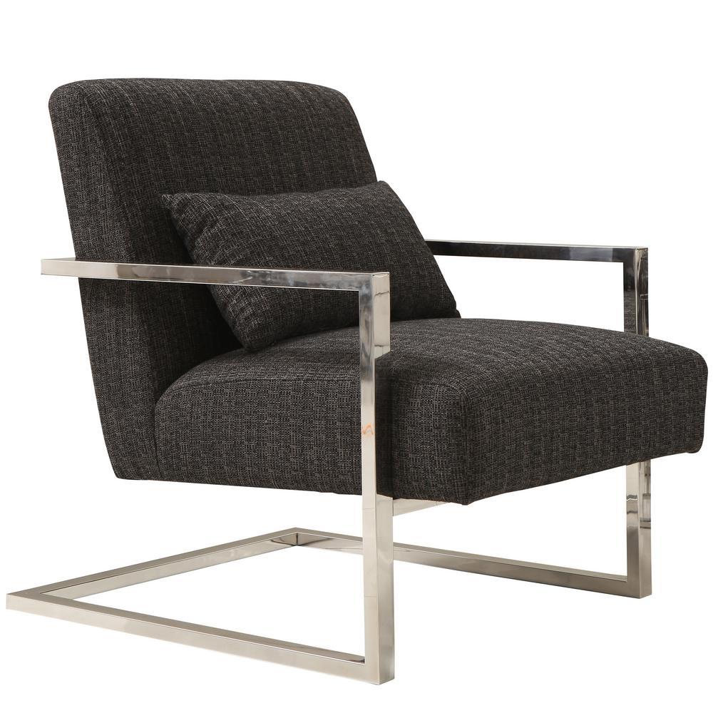 Armen Living Skyline Charcoal Fabric Accent Chair LCSKCHCH