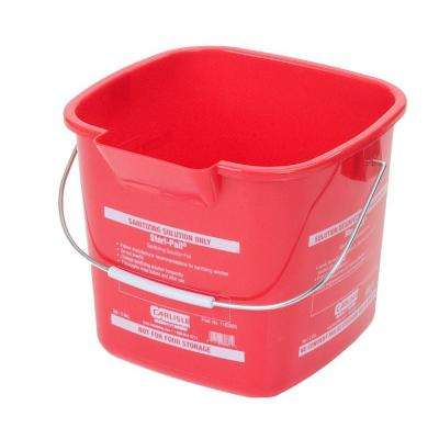 3 qt. Red Steri-Pail for Sanitizing Solutions (12-Case)