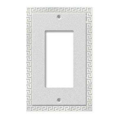 Greek Key 1 Decora Wall Plate - Chrome