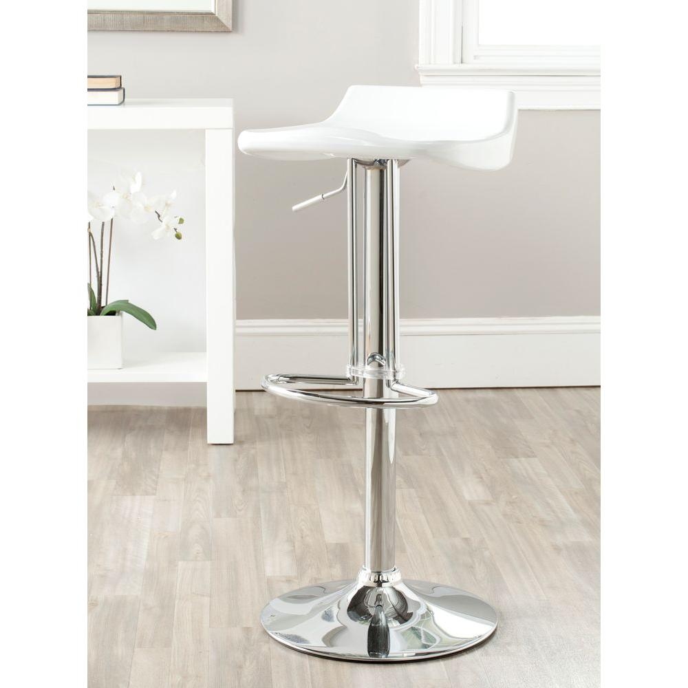 Safavieh Avish Adjustable Height Chrome Bar Stool