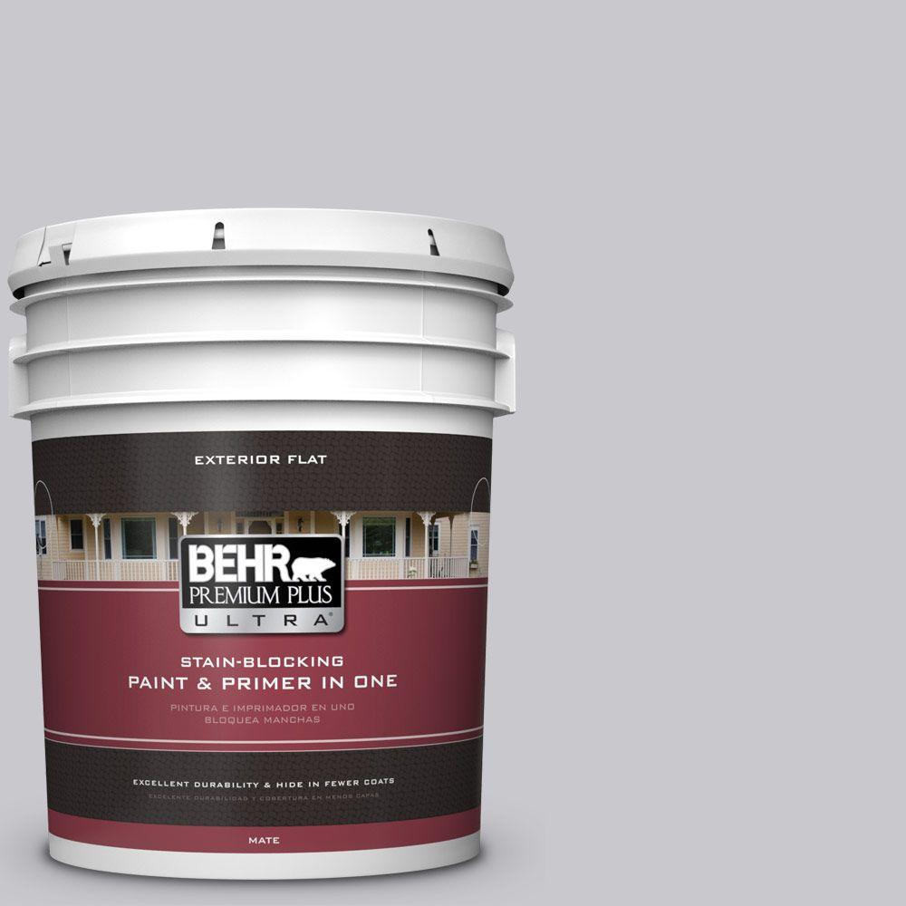 BEHR Premium Plus Ultra 5-gal. #ECC-62-1 Urban Gray Flat Exterior Paint