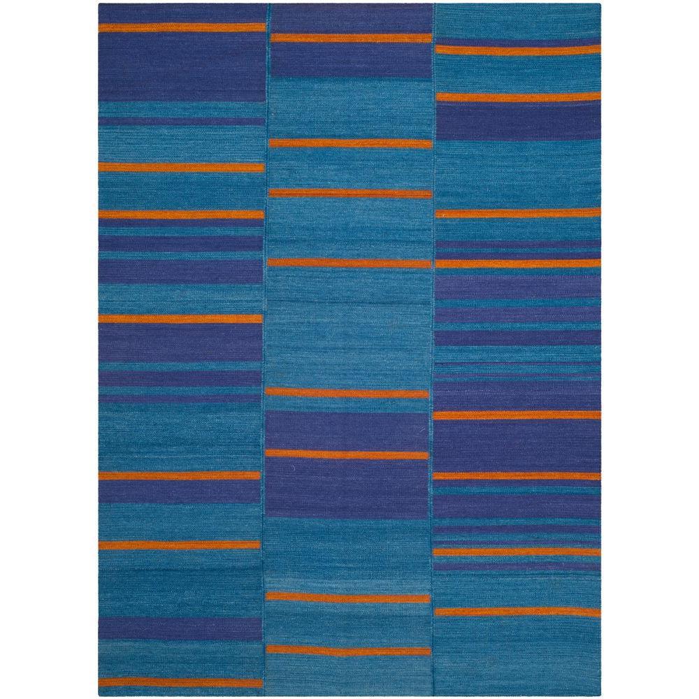 Kilim Blue/Multi 4 ft. x 6 ft. Area Rug