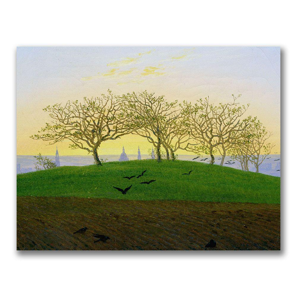Trademark Fine Art 24 in. x 32 in. Hills and Ploughed Fields Canvas Art