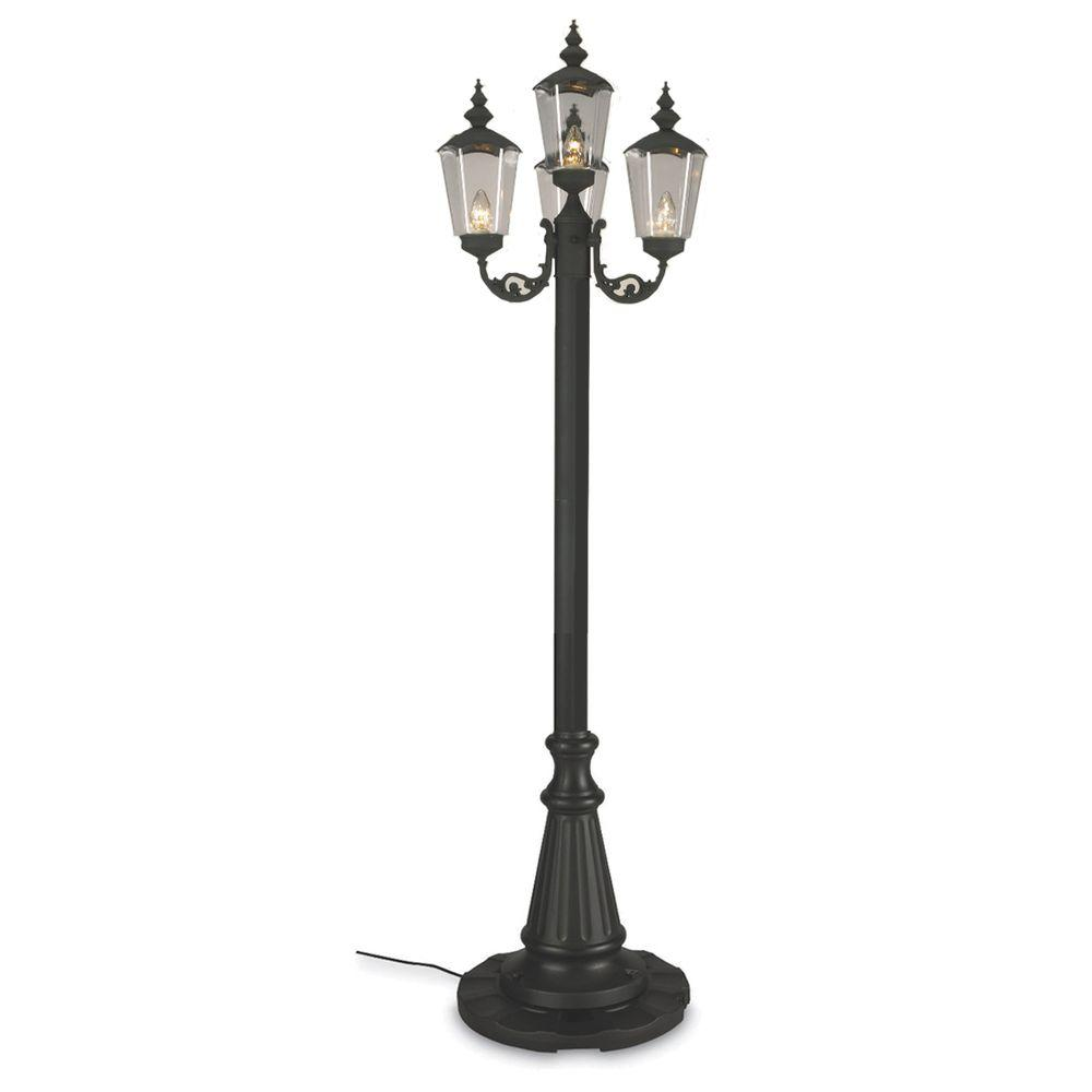Outdoor Electric Lamp Post: Patio Living Concepts Black Cambridge Park Lantern Patio