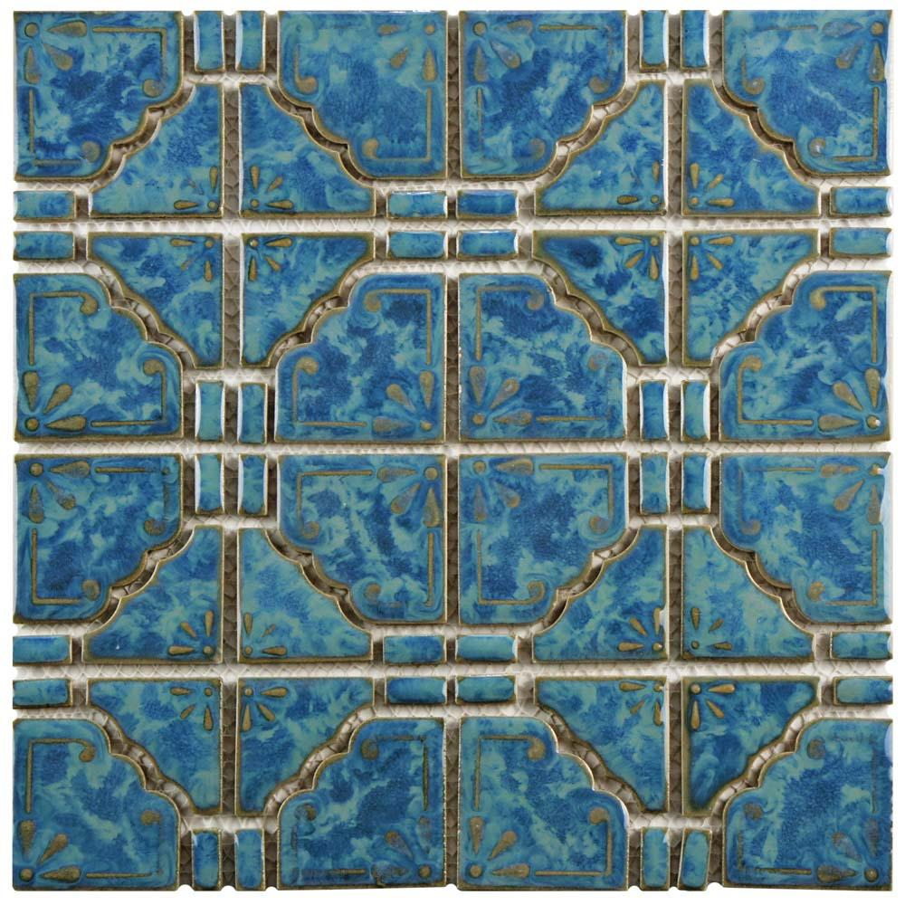 Merola Tile Moonbeam Pacific Blue 11 3 4 In X