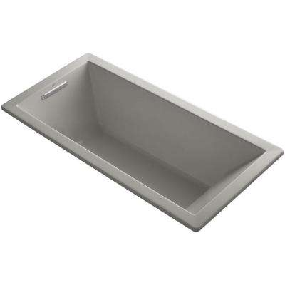Underscore 5.5 ft. Reversible Drain Soaking Tub in Cashmere with Bask Heated Surface