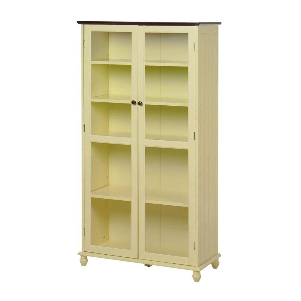 Home Decorators Collection 31 in. W 5-Shelf Book Case Southport Buttercup and Oak