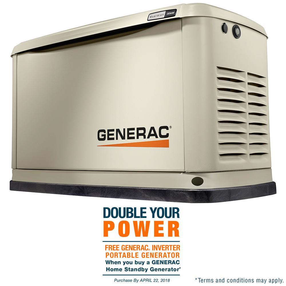 20,000-Watt (LP)/18,000-Watt (NG) Air Cooled Standby Generator