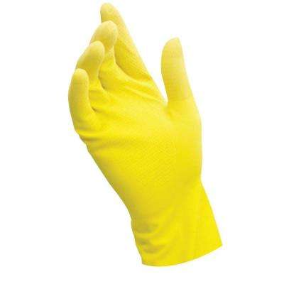 Large Yellow Latex Reusable Gloves