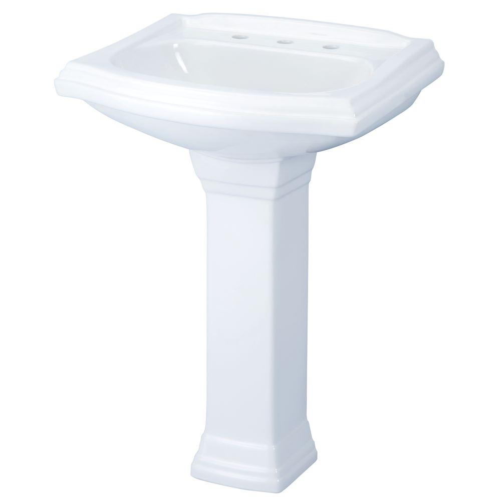 Perfect Gerber Allerton Pedestal Combo Bathroom Sink In White