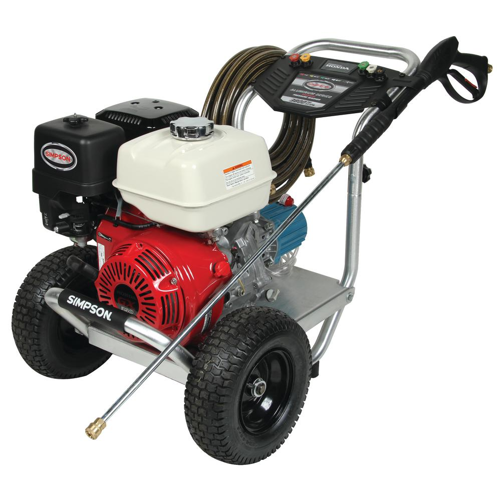 Simpson Aluminum Series 3800 PSI 35 GPM Gas Pressure Washer Powered