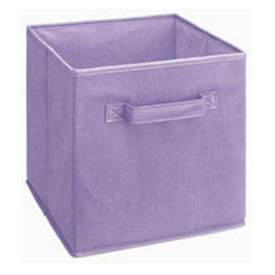 Cubeicals 11 in. H x 10.5 in. W x 10.5 in. D Fabric Storage Bin in Light Purple