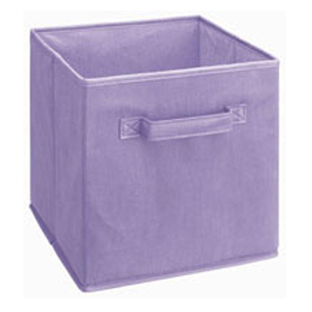 Cubeicals 11 in. H x 10.5 in. W x 10.5 in. D Fabric Storage Bin in Light Purple