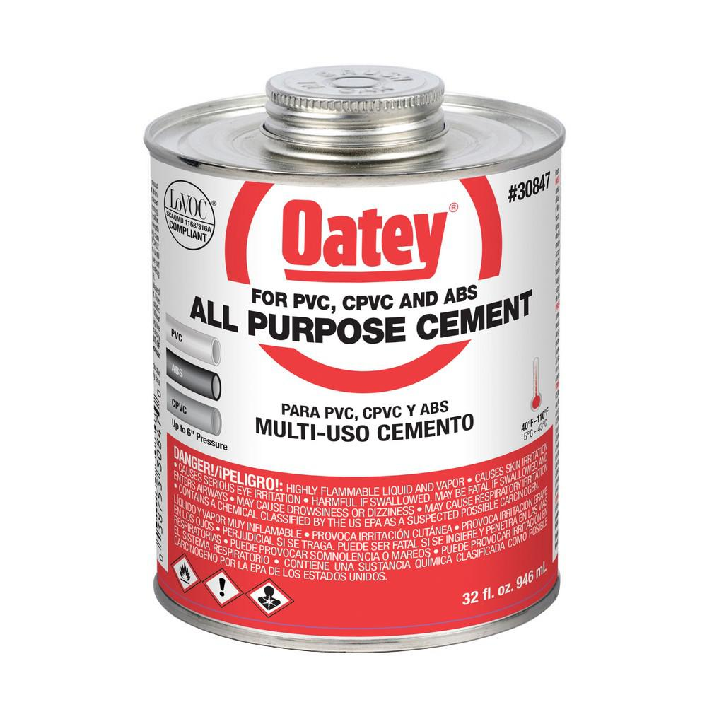 Solvent For Pvc Pipe And Cement : Oatey oz all purpose solvent cement the home