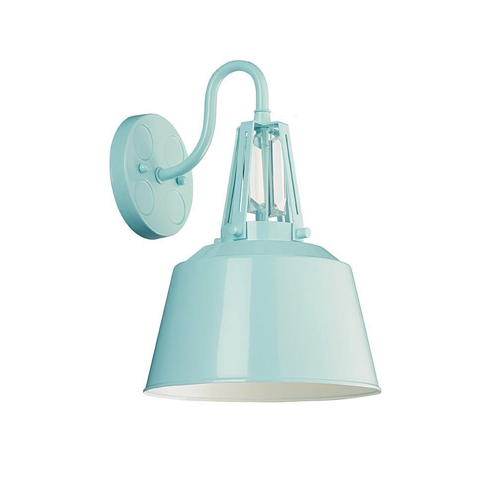 Freemont 1-Light Hi Gloss Blue Wall Bracket