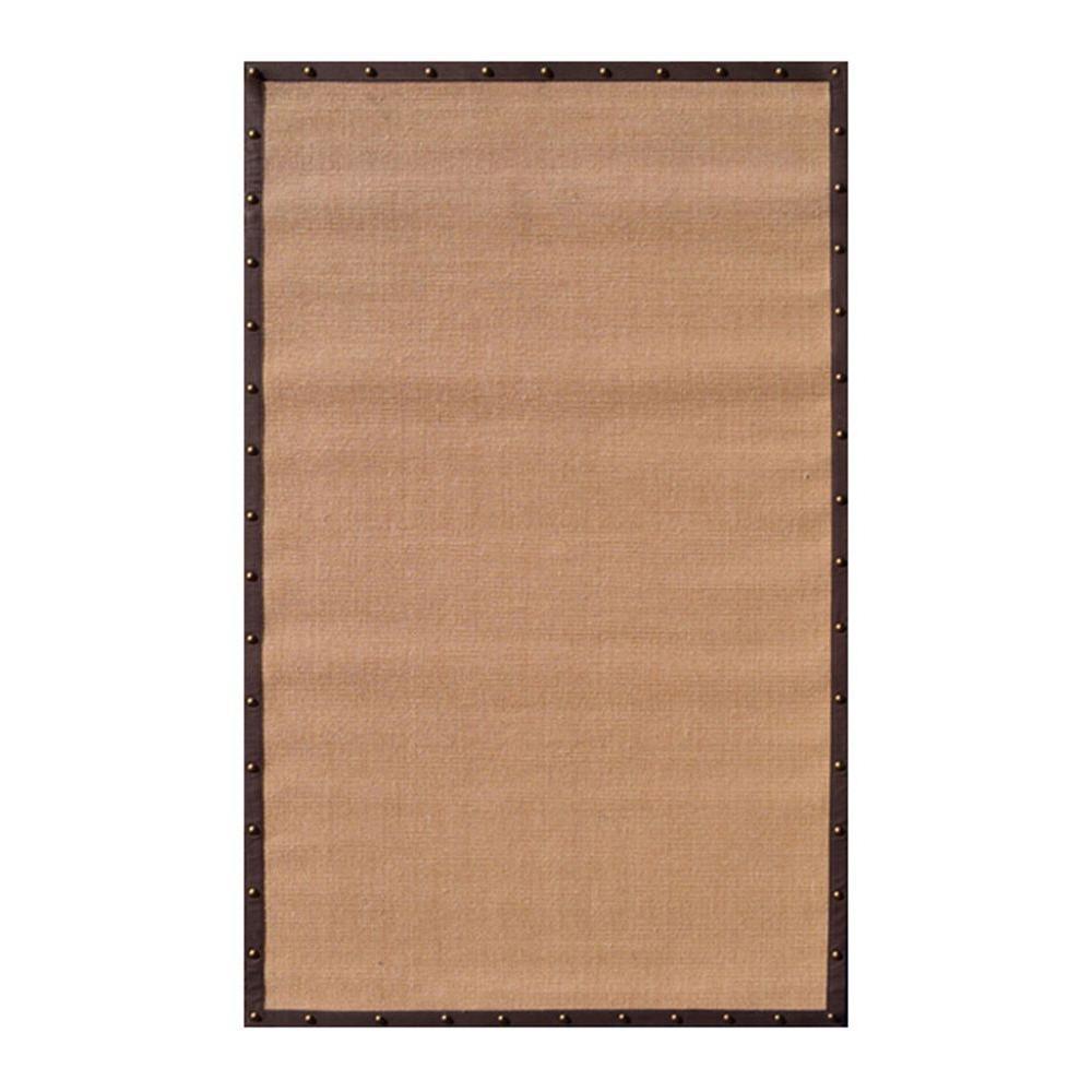 Filament design sisal brown border 8 ft x 10 ft indoor for Sisal carpet home depot