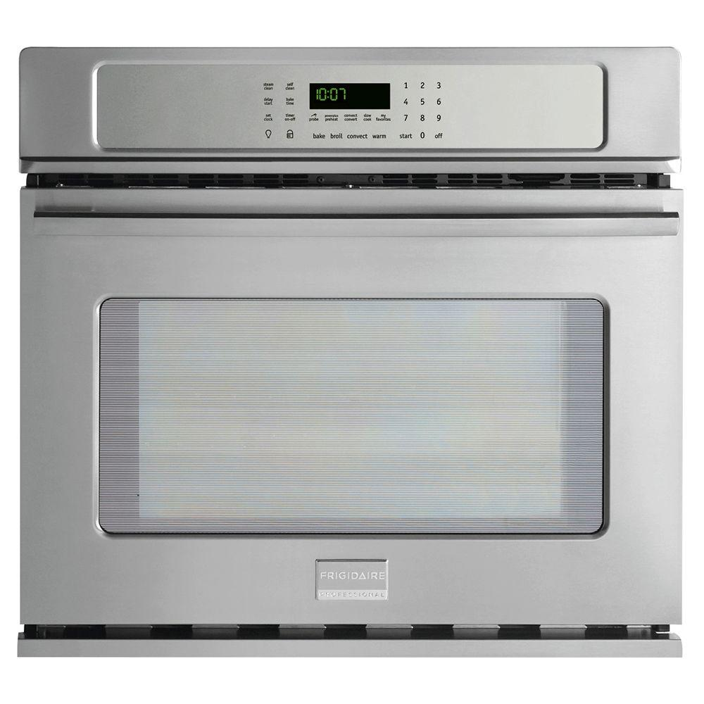 Frigidaire Professional 30 in. Single Electric Wall Oven Self-Cleaning with Convection in Stainless Steel