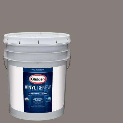 5 gal. #HDGWN52 Grey Tweed Low-Lustre Exterior Paint with Primer