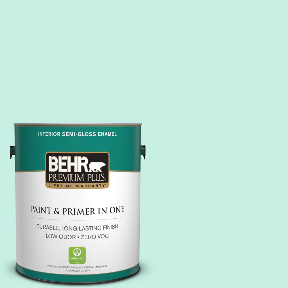 1-gal. #P430-1 Summer House Semi-Gloss Enamel Interior Paint