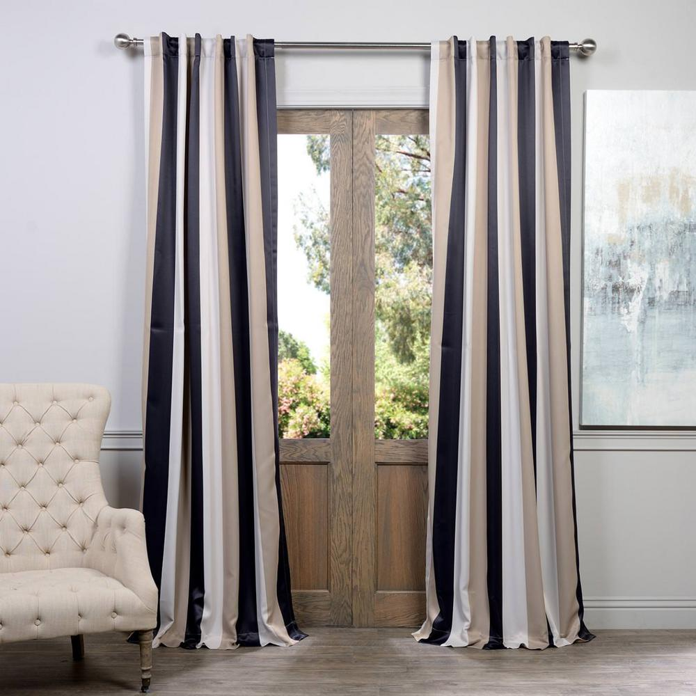 Exclusive Fabrics Furnishings Semi Opaque Georgetown Blackout Curtain 50 In W X