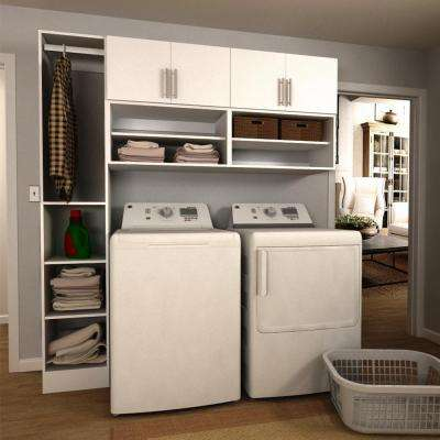 Horizon 75 in. W White Open Shelves Laundry Cabinet Kit