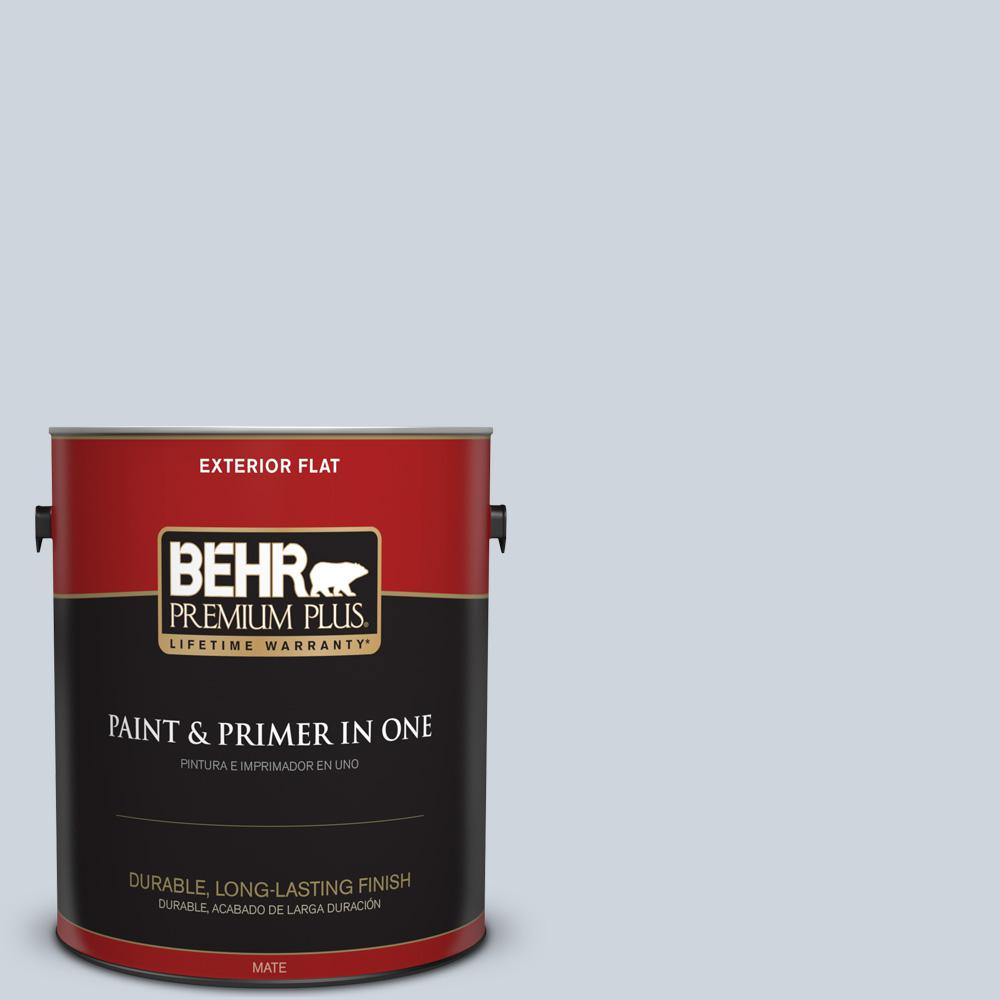 1 gal. #PPU14-17A Polar Frost Flat Exterior Paint and Primer in