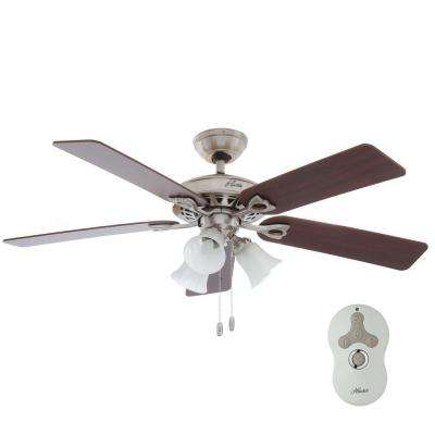 Sontera 52 in. Indoor Brushed Nickel Ceiling Fan with Remote