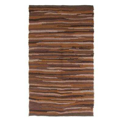 Chindi Tonal Chocolate 1 ft. 9 in. x 2 ft. 10 in. Area Rug