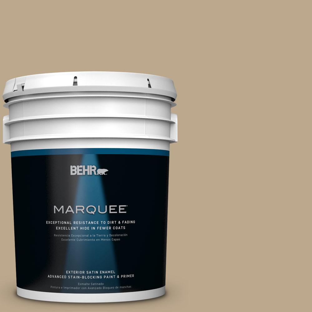 BEHR MARQUEE 5-gal. #HDC-NT-16 Natural Chamois Satin Enamel Exterior Paint