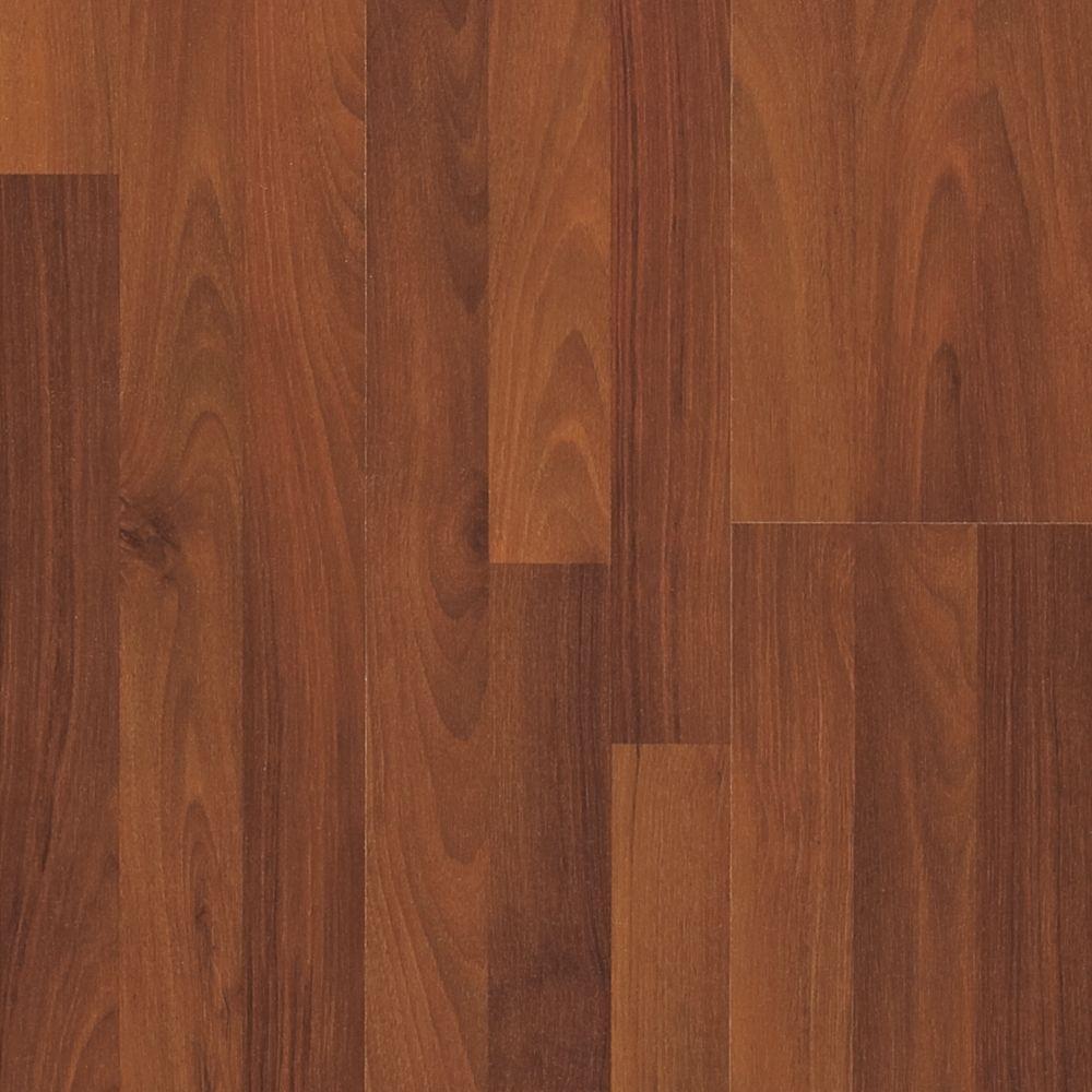 Pergo Presto Spiced Walnut Laminate Flooring - 5 in. x 7 in. Take Home Sample-DISCONTINUED