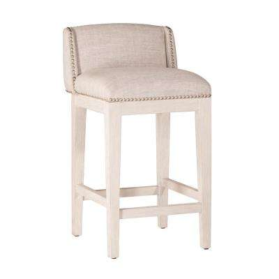 Bronn 26 in. White Non Swivel Counter Stool (Set of 2)