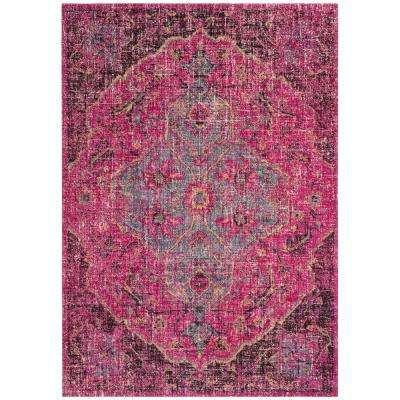 Artisan Fuchsia/Anthracite 7 ft. x 9 ft. Area Rug