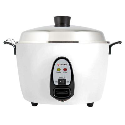 1.14 Qt. White Electric Multi-Cooker with Stainless Steel Pot