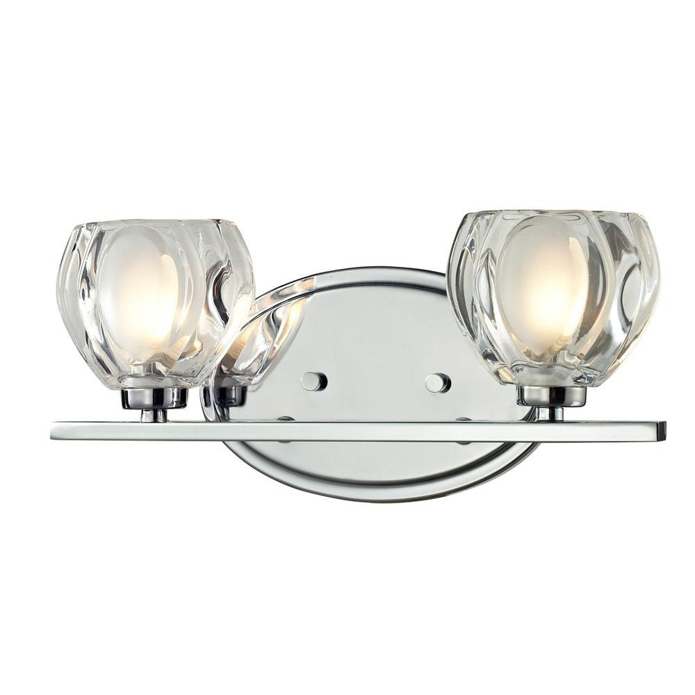 Filament Design Suave 2 Light Chrome Bath Vanity Light Cli Jb 027839 The Home Depot