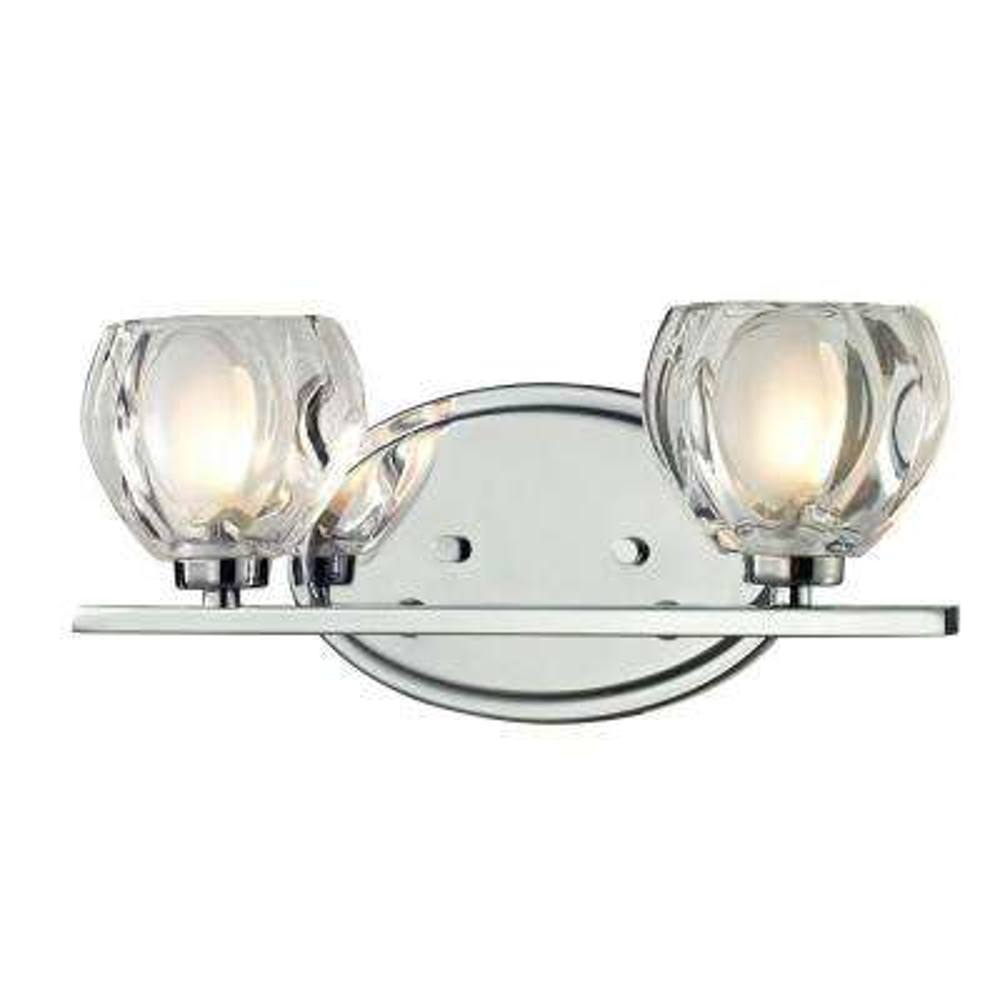 Suave 2-Light Chrome Bath Vanity Light