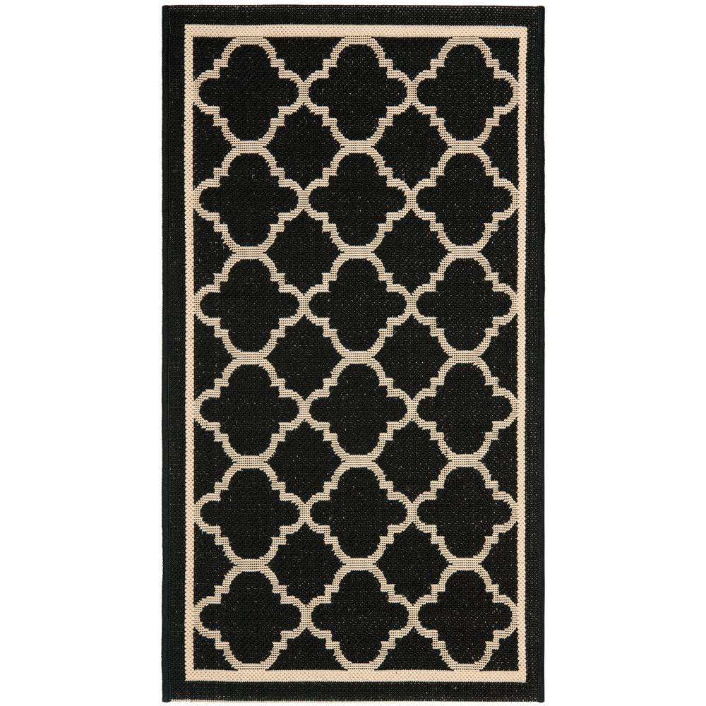 Courtyard Black/Beige 2 ft. x 3 ft. 7 in. Indoor/Outdoor Area