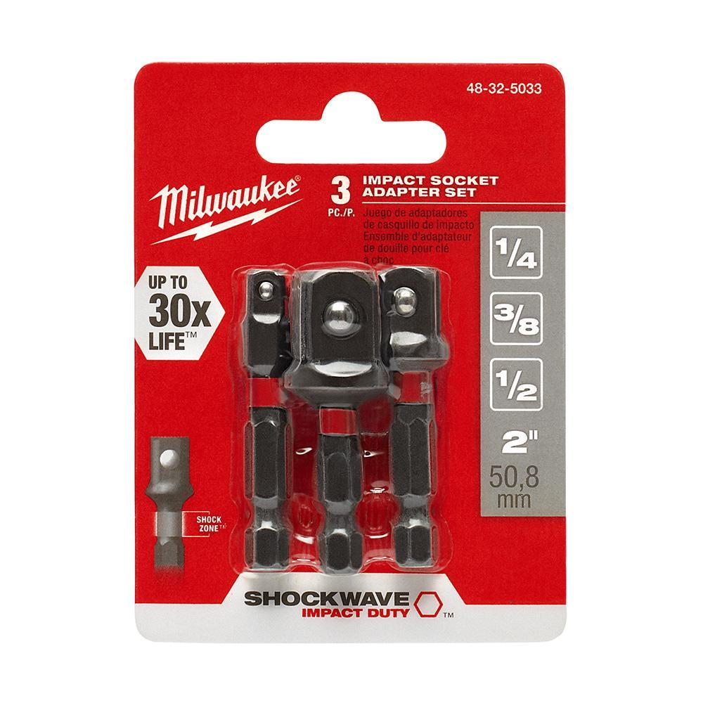 SHOCKWAVE IMPACT DUTY 1/4 in. Hex Shank Socket Adapter Set (3-Piece)