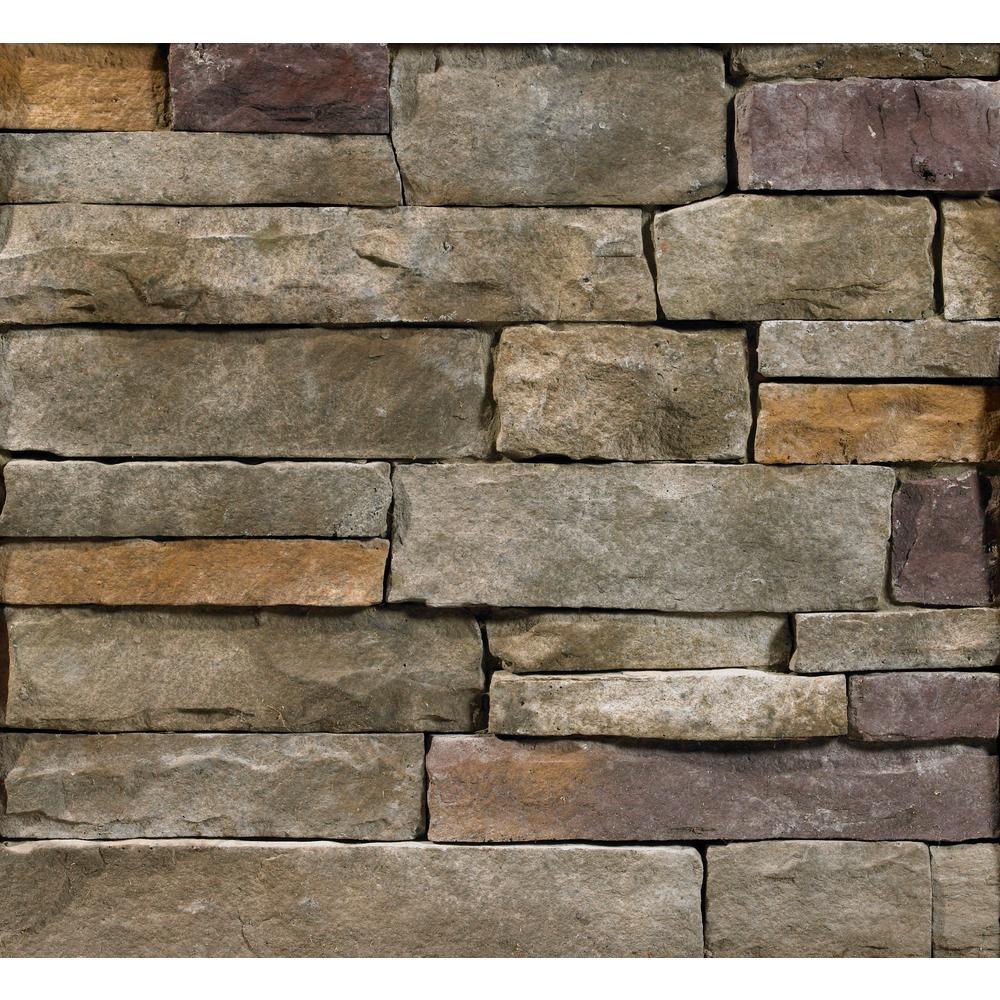 Buckeye Ledgestone Flats 2 in. to 8 in. x 6 in. x 20 in. Manufactured Stone Ledgestone Flat 10 sf. ft. Pack