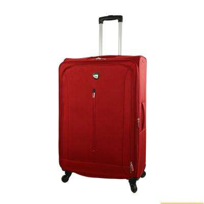 Tena 28 in. Red Soft Side Spinner Suitcase