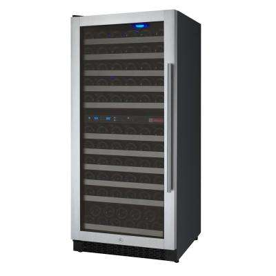 FlexCount Series 121-Bottle Dual Zone Wine Refrigerator with Left Hinge