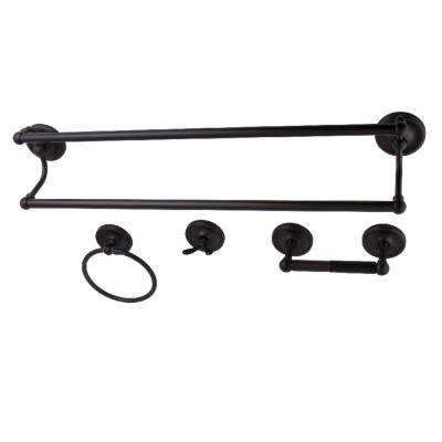 Traditional 4-Piece Bath Hardware Set in Oil Rubbed Bronze