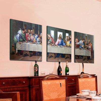 "16 in. x 48 in. ""Last Dinner"" Printed Wall Art"