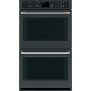 30 in. Smart Double Electric Wall Oven with Convection Self-Clean in Matte Black, Fingerprint Resistant