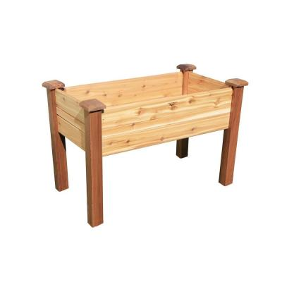 48 in. x 24 in. Unfinished Cedar Elevated Garden Bed