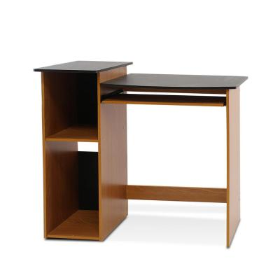 33 in. Rectangular Light Cherry Computer Desk with Keyboard Tray